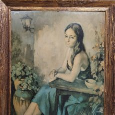 Varios objetos de Arte: IMPRESIÓN ÓLEO,FRANCISCO RIVERA VIII. Lote 239767360