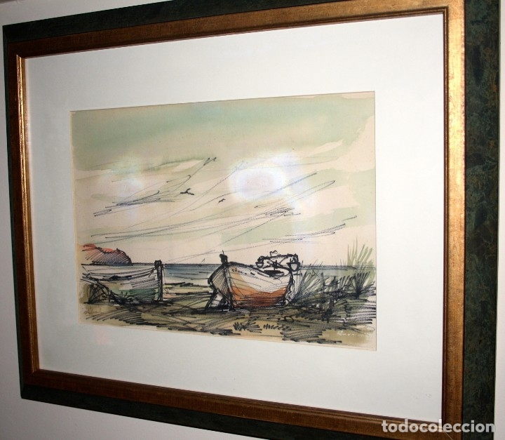 JOAQUIN MICHAVILA. PINTOR. VALENCIA. ORIGINAL (Arte - Varios Objetos de Arte)