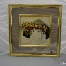 Varios objetos de Arte: VINTAGE CUADRO ESMALTE FIRMADO JUAN Y MARIA?. Lote 175802580