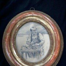 Varios objetos de Arte: MARIANO PEDRERO DIBUJO ORIGINAL EN SU MARCO ORIGINAL 14X11 CM. Lote 175828000