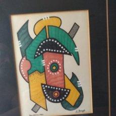 Varios objetos de Arte: CUADRO ( FIRMADO J. BORGIR EN BARCELONA 1980 ). MÁS CUADROS EN MÍ PERFIL.. Lote 175132320