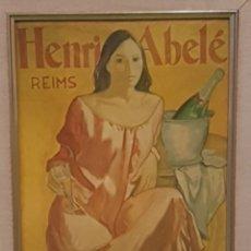Varios objetos de Arte: CUADRO JORDI ROLLÁN DE PUBLICITARIO HENRI ABELÉ REIMS LACADO. Lote 176065902