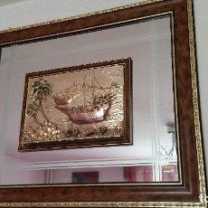 Varios objetos de Arte: PRECIOSO CUADRO MAD ITALY HECHO DE MADEIRA ESPERO Y NO MEDIO PLATA 925,L,M . Lote 176084648