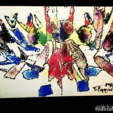 Varios objetos de Arte: RECONOCIDO PINTOR VALENCIANO VICENTE ENGUIDANOS GARRIDO PINTURAS MUSICALES. ÚNICO EN EL MUNDO. Lote 176374900