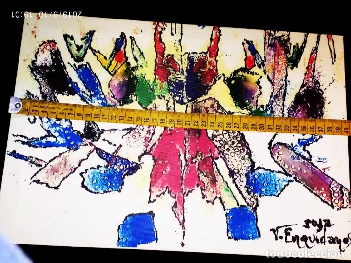 Varios objetos de Arte: RECONOCIDO PINTOR VALENCIANO VICENTE ENGUIDANOS GARRIDO PINTURAS MUSICALES. ÚNICO EN EL MUNDO - Foto 8 - 176374900