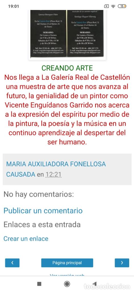 Varios objetos de Arte: RECONOCIDO PINTOR VALENCIANO VICENTE ENGUIDANOS GARRIDO PINTURAS MUSICALES. ÚNICO EN EL MUNDO - Foto 22 - 176374900