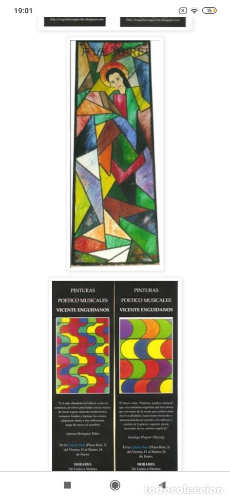 Varios objetos de Arte: RECONOCIDO PINTOR VALENCIANO VICENTE ENGUIDANOS GARRIDO PINTURAS MUSICALES. ÚNICO EN EL MUNDO - Foto 23 - 176374900