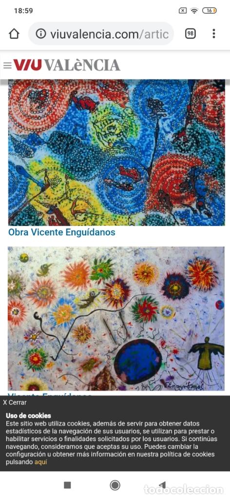 Varios objetos de Arte: RECONOCIDO PINTOR VALENCIANO VICENTE ENGUIDANOS GARRIDO PINTURAS MUSICALES. ÚNICO EN EL MUNDO - Foto 31 - 176374900