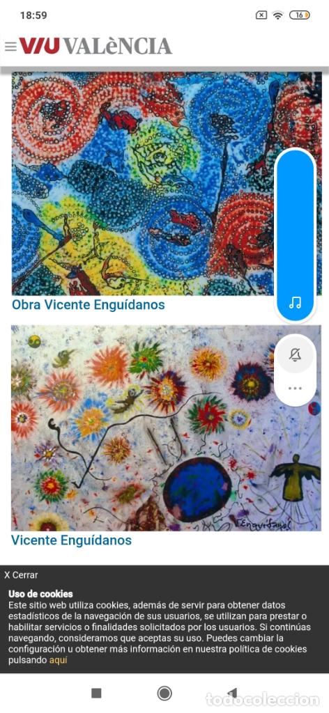Varios objetos de Arte: RECONOCIDO PINTOR VALENCIANO VICENTE ENGUIDANOS GARRIDO PINTURAS MUSICALES. ÚNICO EN EL MUNDO - Foto 32 - 176374900