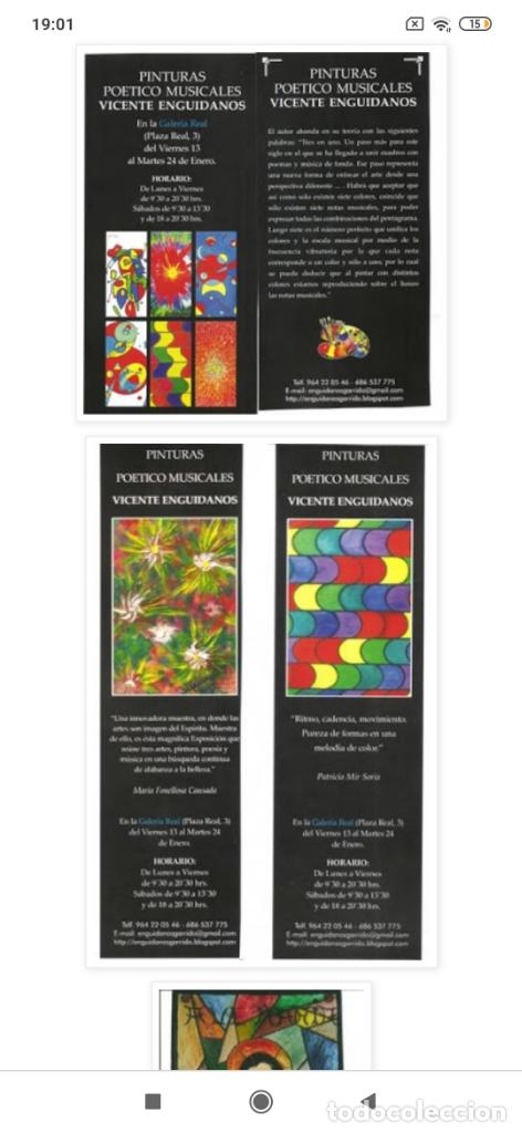 Varios objetos de Arte: RECONOCIDO PINTOR VALENCIANO VICENTE ENGUIDANOS GARRIDO PINTURAS MUSICALES. ÚNICO EN EL MUNDO - Foto 40 - 176374900