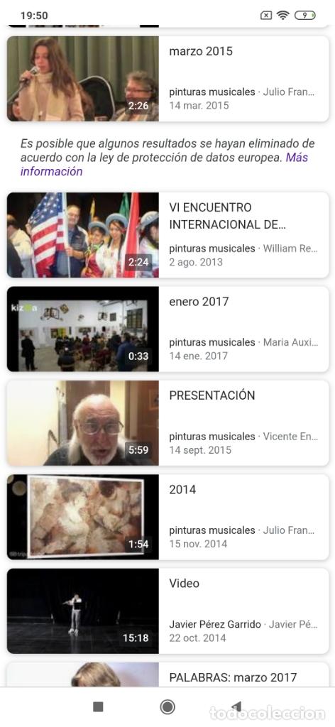 Varios objetos de Arte: RECONOCIDO PINTOR VALENCIANO VICENTE ENGUIDANOS GARRIDO PINTURAS MUSICALES. ÚNICO EN EL MUNDO - Foto 59 - 176374900