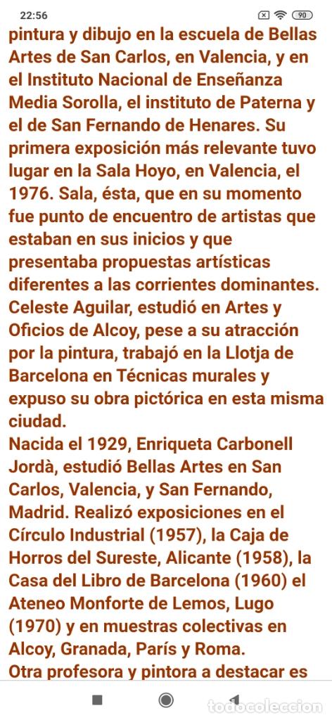 Varios objetos de Arte: OLEO ROSA PILAR ASES MARTÍNEZ RECONOCIDA PINTORA PINTOR ALICANTINA ALCOY UNICA OBRA VENTA RARA UNICO - Foto 23 - 176457447