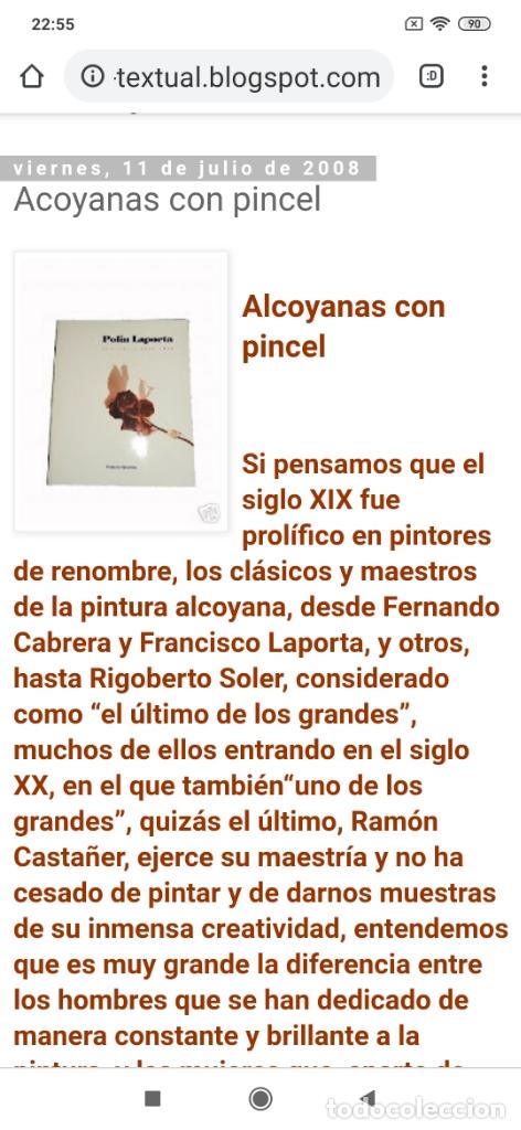 Varios objetos de Arte: OLEO ROSA PILAR ASES MARTÍNEZ RECONOCIDA PINTORA PINTOR ALICANTINA ALCOY UNICA OBRA VENTA RARA UNICO - Foto 30 - 176457447