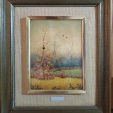 Varios objetos de Arte: CUADRO ANTIGUO, PINTURA LAQUEADA Y FIRMADA. Lote 176543230