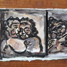 Varios objetos de Arte: PINTURA GUACHE SOBRE PAPEL CUADRO ARTE DIBUJO. Lote 176572500