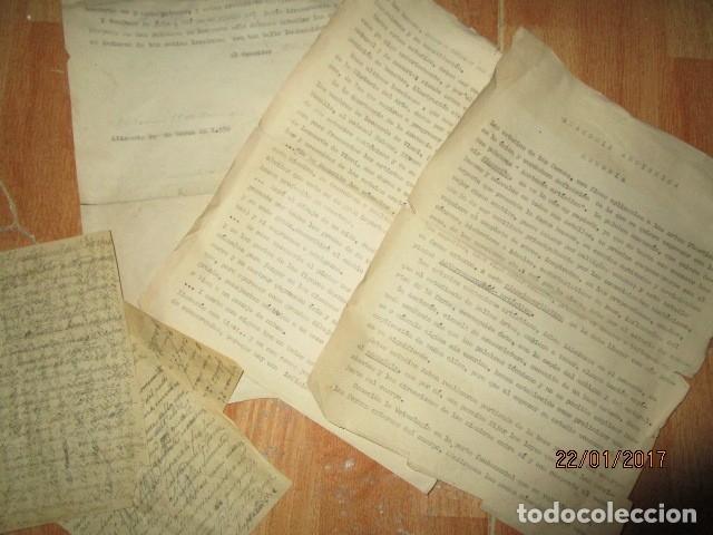 MANUSCRITO ALICANTE 1950 SOBRE MEMORIA ANATOMIA ARTISTICA DIBUJOS ETC (Arte - Varios Objetos de Arte)