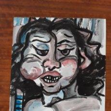 Varios objetos de Arte: PINTURA GUACHE SOBRE PAPEL CUADRO ARTE DIBUJO. Lote 176593665