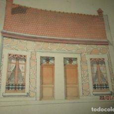 Varios objetos de Arte: CASA ANTIGUA PINTURA A LA ACUARELA JOSE NAVARRO LLORENS FIRMADA PRINCIPIOS DE SIGLO. Lote 176640687