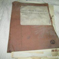 Varios objetos de Arte: ANTIGUA CARPETA CON 65 DIBUJOS ANTIGUA ACADEMIA O TALLER DE ARTE ESCUELA TRABAJO DE ALICANTE. Lote 176645809