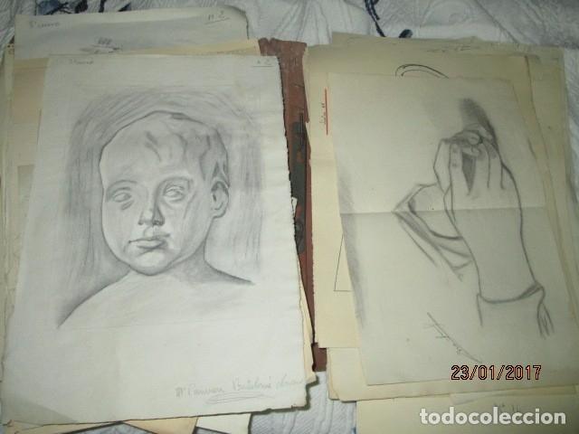 Varios objetos de Arte: ANTIGUA CARPETA CON 65 DIBUJOS ANTIGUA ACADEMIA O TALLER DE ARTE escuela trabajo de ALICANTE - Foto 4 - 176645809