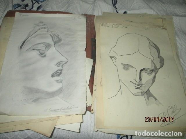 Varios objetos de Arte: ANTIGUA CARPETA CON 65 DIBUJOS ANTIGUA ACADEMIA O TALLER DE ARTE escuela trabajo de ALICANTE - Foto 5 - 176645809