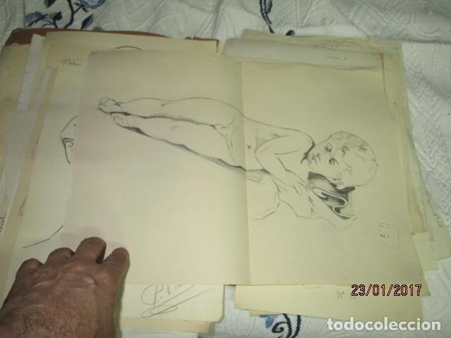 Varios objetos de Arte: ANTIGUA CARPETA CON 65 DIBUJOS ANTIGUA ACADEMIA O TALLER DE ARTE escuela trabajo de ALICANTE - Foto 6 - 176645809