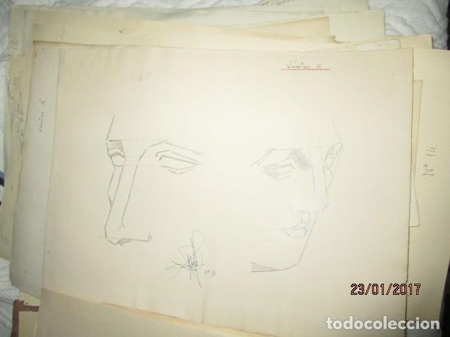 Varios objetos de Arte: ANTIGUA CARPETA CON 65 DIBUJOS ANTIGUA ACADEMIA O TALLER DE ARTE escuela trabajo de ALICANTE - Foto 7 - 176645809
