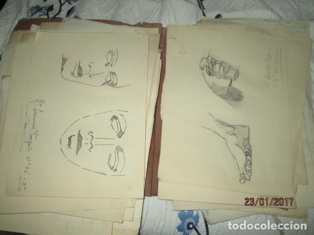 Varios objetos de Arte: ANTIGUA CARPETA CON 65 DIBUJOS ANTIGUA ACADEMIA O TALLER DE ARTE escuela trabajo de ALICANTE - Foto 14 - 176645809