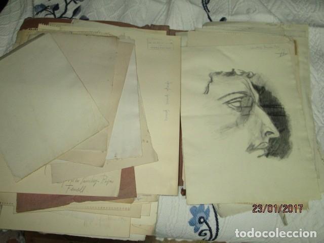 Varios objetos de Arte: ANTIGUA CARPETA CON 65 DIBUJOS ANTIGUA ACADEMIA O TALLER DE ARTE escuela trabajo de ALICANTE - Foto 17 - 176645809