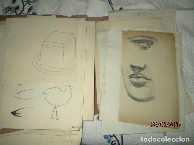 Varios objetos de Arte: ANTIGUA CARPETA CON 65 DIBUJOS ANTIGUA ACADEMIA O TALLER DE ARTE escuela trabajo de ALICANTE - Foto 19 - 176645809