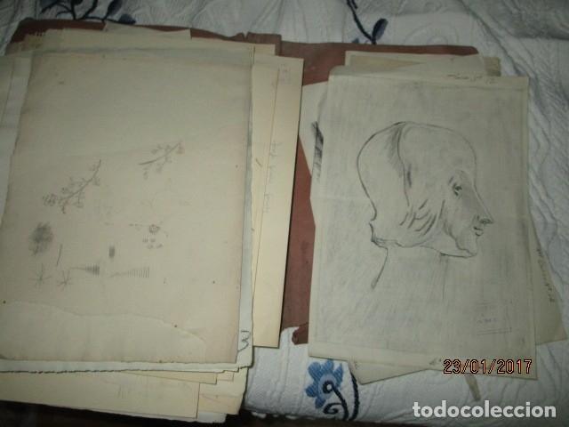 Varios objetos de Arte: ANTIGUA CARPETA CON 65 DIBUJOS ANTIGUA ACADEMIA O TALLER DE ARTE escuela trabajo de ALICANTE - Foto 20 - 176645809