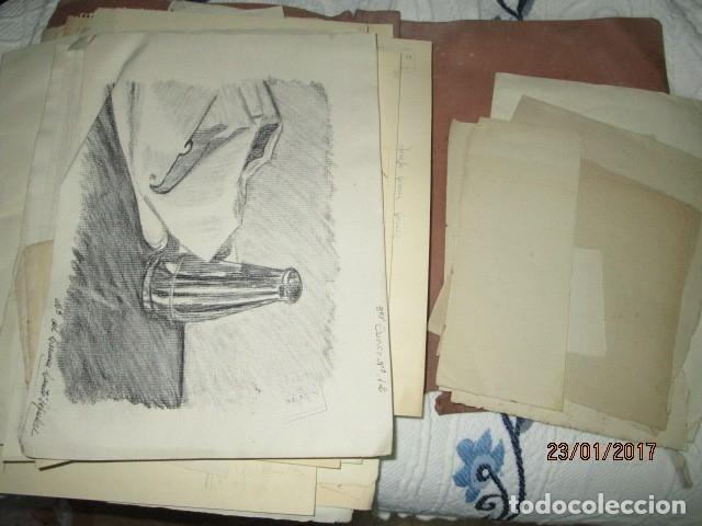 Varios objetos de Arte: ANTIGUA CARPETA CON 65 DIBUJOS ANTIGUA ACADEMIA O TALLER DE ARTE escuela trabajo de ALICANTE - Foto 21 - 176645809