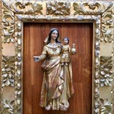 Varios objetos de Arte: EXCELENTE MARCO DE MADERA DORADA, S.XVIII. GRAN TAMAÑO. Lote 176839125