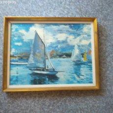 Varios objetos de Arte: MARCO VINTAGE AÑOS 60/70 DE MADERA CON PATINA DORADA.. Lote 176850983