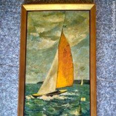 Varios objetos de Arte: MARCO VINTAGE DE MADERA CON PATINA DORADA.. Lote 176851803