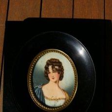 Varios objetos de Arte: MINIATURA PINTADA SOBRE MARFIL IMPERIO. Lote 177050369
