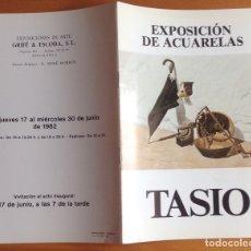 Varios objetos de Arte: CATALOGO EXPOSICIÓN DE TASIO FLORES EN BARCELONA EN 1982. Lote 177064638