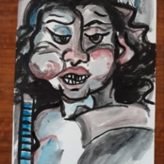 Varios objetos de Arte: PINTURA GUACHE SOBRE PAPEL CUADRO ARTE PINTURA. Lote 177182078