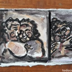 Varios objetos de Arte: PINTURA GUACHE SOBRE PAPEL ARTE CUADRO PINTURA. Lote 177182143