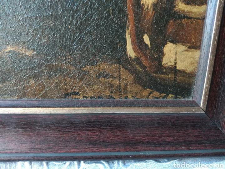Varios objetos de Arte: CUADRO ( ANTIGUO FIRMADO ) PINTADO SOBRE TABLA. MÁS CUADROS EN MÍ PERFIL. - Foto 8 - 177300390