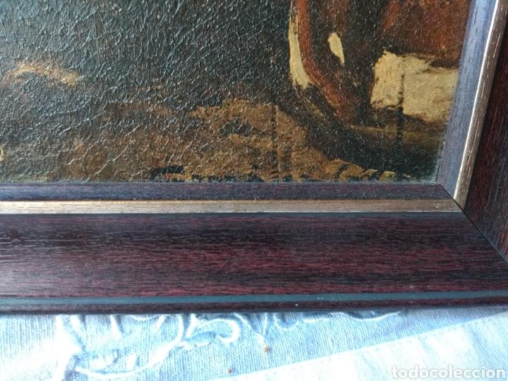 Varios objetos de Arte: CUADRO ( ANTIGUO FIRMADO ) PINTADO SOBRE TABLA. MÁS CUADROS EN MÍ PERFIL. - Foto 9 - 177300390