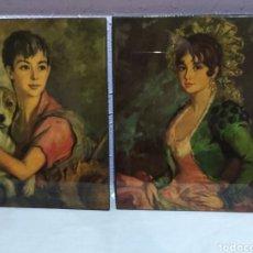 Varios objetos de Arte: PAREJA CUADROS ( ANTIGUOS FIRMADOS ) . MÁS CUADROS ANTIGUOS EN MÍ PERFIL.. Lote 177311673