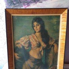Varios objetos de Arte: CUADRO ANTIGUO ( MUJER CON CANTARO ) MÁS CUADROS EN MÍ PERFIL.. Lote 177405330