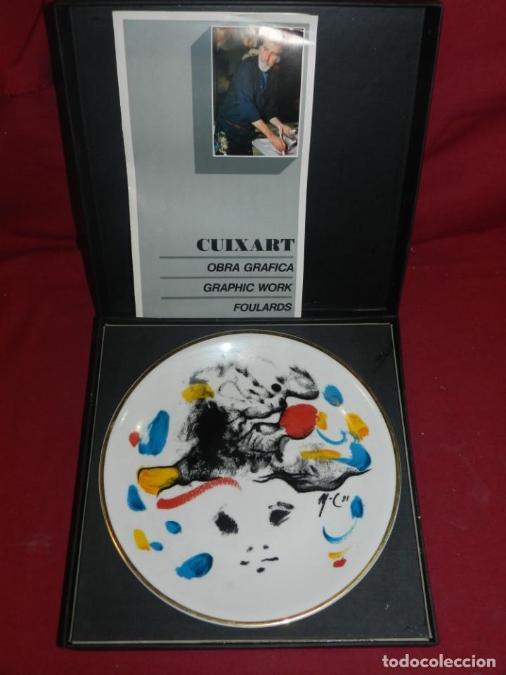(M) MODEST CUIXART - PLATO DE CERAMICA 1981 CON ESTUCHE, BUEN ESTADO DE CONSERVACIÓN (Arte - Varios Objetos de Arte)