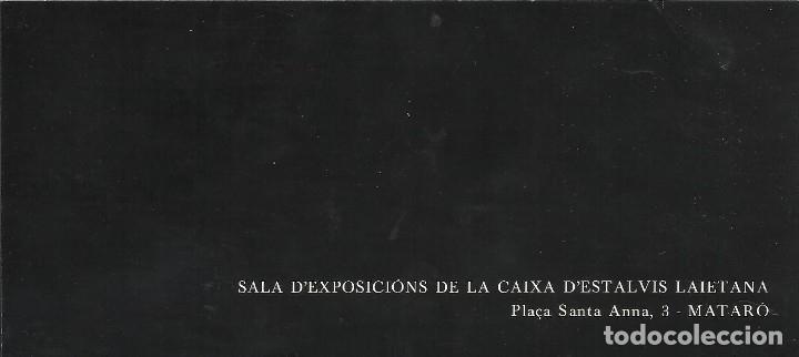 Varios objetos de Arte: Díptico Exposició Joan Ponç. Caixa Laietana. 1979. Buen estado. 8x18 cm. - Foto 3 - 177609147