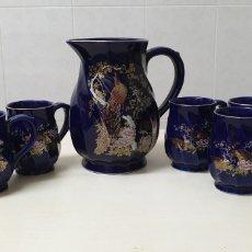 Varios objetos de Arte: JARRÓN Y 6 JARRAS DE PORCELANA CHINA ESMALTADA CON SELLO. Lote 177690669