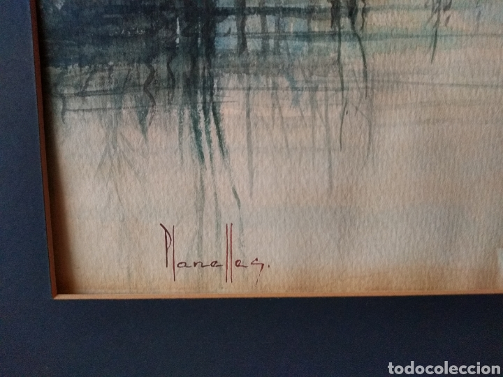 Varios objetos de Arte: CUADRO ACUARELA ( FIRMADO PLANELLES ). ANTIGUO .MAS CUADROS EN MÍ PERFIL. - Foto 6 - 177824829