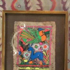 Varios objetos de Arte: PERGAMINO PINTADO A MANO CON MARCO. Lote 177825214