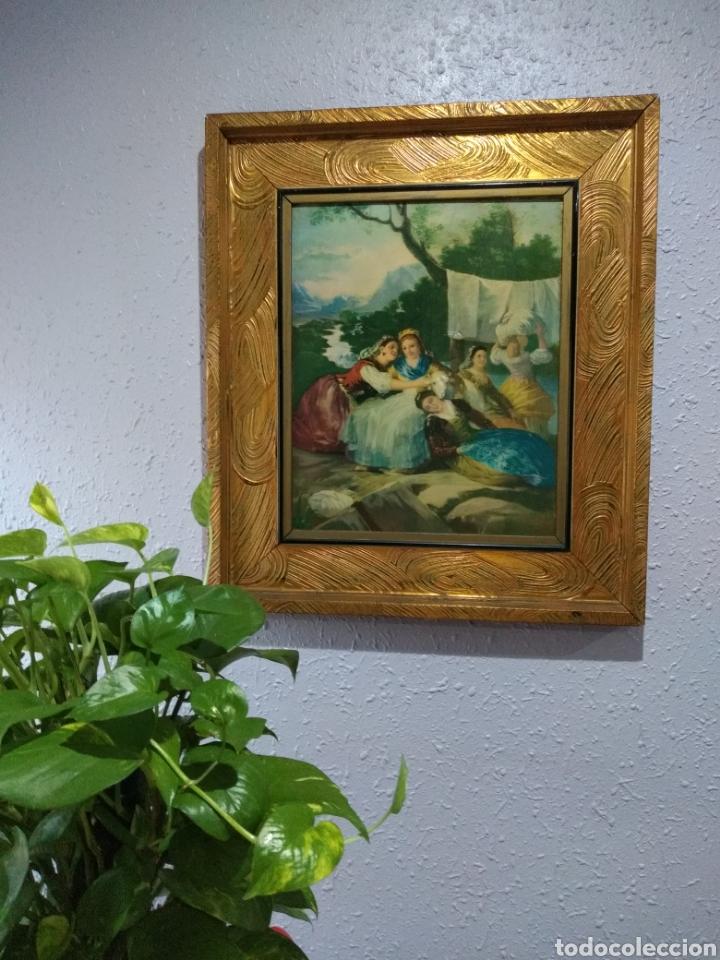 Varios objetos de Arte: ANTIGUO( CUADRO GOYESCO MUJERES LAVANDO ) PINTADO SOBRE TABLA. MÁS CUADROS ANTIGUOS EN MI PERFIL. - Foto 2 - 177942033