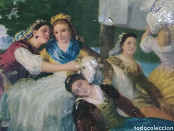 Varios objetos de Arte: ANTIGUO( CUADRO GOYESCO MUJERES LAVANDO ) PINTADO SOBRE TABLA. MÁS CUADROS ANTIGUOS EN MI PERFIL. - Foto 7 - 177942033